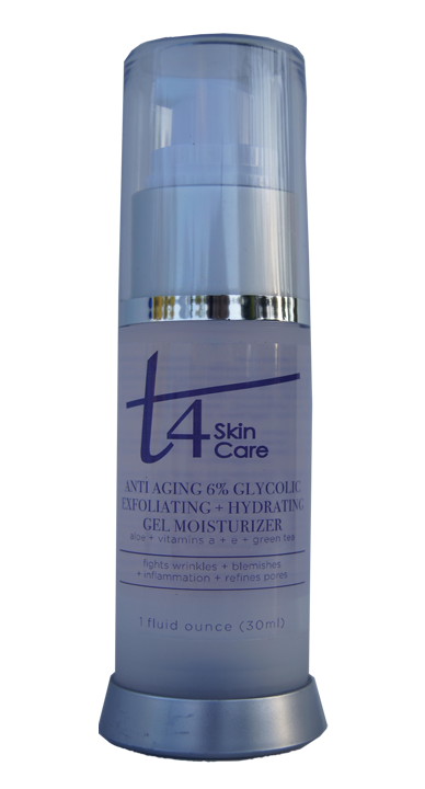 t4 anti-aging 6% glycolic exfoliating + hydrating gel