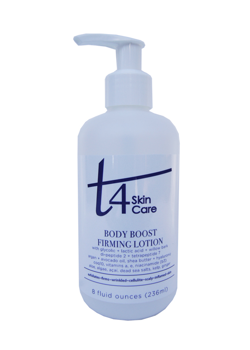 t4 body boost exfoliating + firming lotion